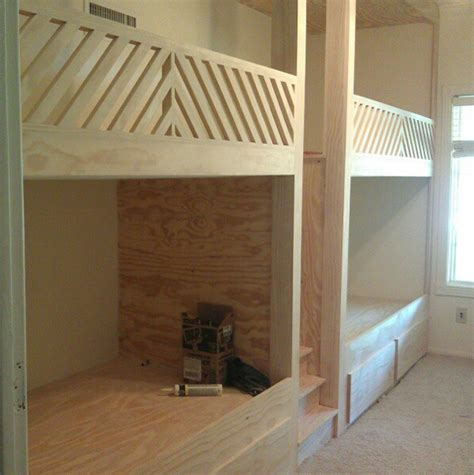 Diy Built In Bunk Beds Built In Bunk Beds Plans Bed Plans Diy Blueprints