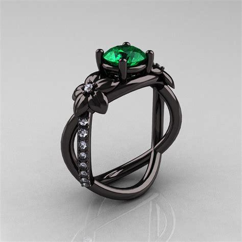 designer classic 18k black gold 1 0 ct emerald