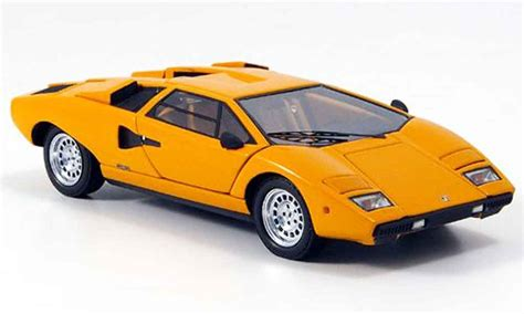Lamborghini Miniature Lamborghini Countach Lp 400 Miniature Orange Kyosho 1 43