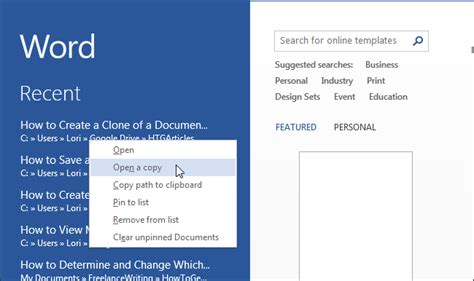 How To Duplicate A Word Document