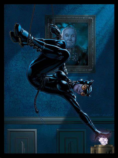 Ceiling Art by Sarin S Files Catwoman Making Of A Base Card