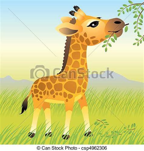imagenes de jirafas caricaturas clip art de vectores de jirafa beb 233 vector caricatura