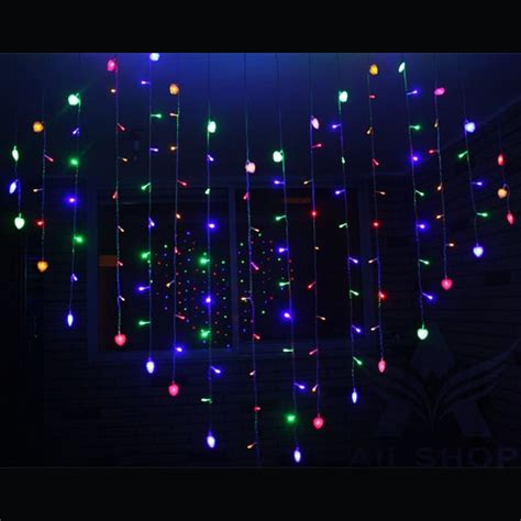 led heart shape curtain light indoor party christmas