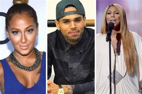 chris brown calls the real hosts trout chris brown goes on adrienne bailon tamar braxton