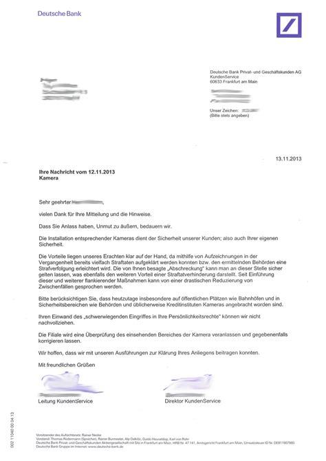 Deutschland Brief Beispiel 252 Berwachung Der Kreuzung Engelbosteler Damm Kopernikusstra 223 E Durch Die Deutsche Bank
