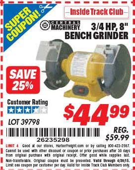 bench coupons harbor freight tools coupon database free coupons 25