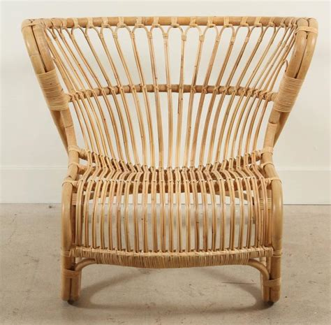 new rattan fox chair by viggo boesen for sale at
