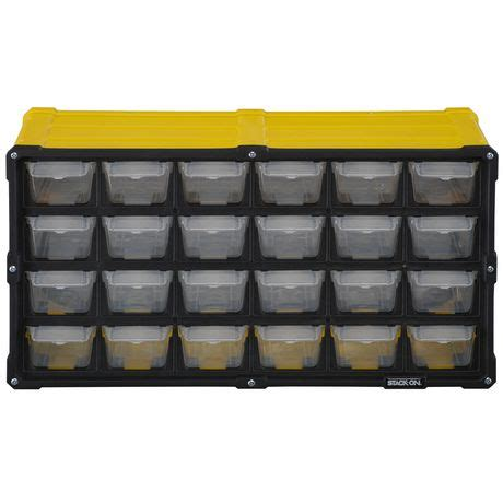 Stack On Storage Drawers by Stack On 24 Drawer Storage Cabinet Walmart Canada