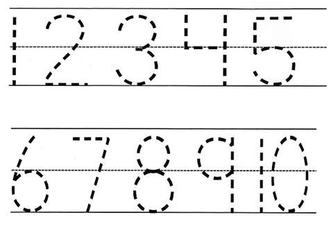 free printable numbers 1 10 for preschoolers tracing numbers 1 10 worksheets kindergarten numbers