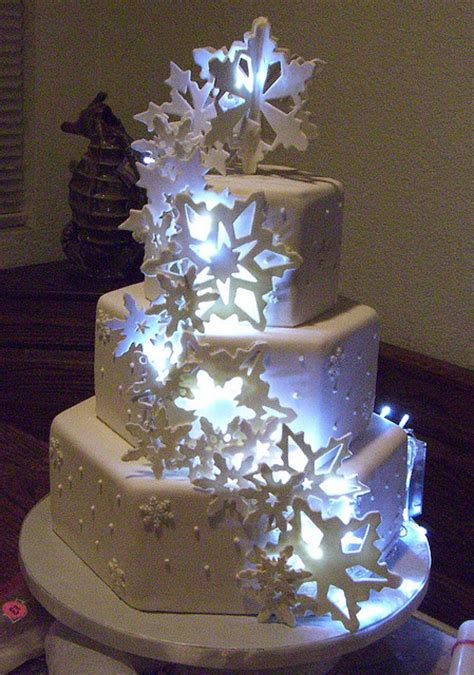Wedding Cake Lights by Winter Wedding Cakes Gallery Picture Cake