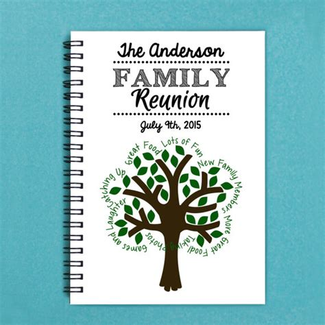 family reunion book template family reunion booklet layout pictures to pin on