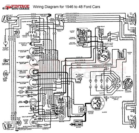 1948 ford truck horn wiring diagram get free image about