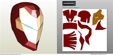 tutoriel latex head papercraft pdo file template for invincible iron man