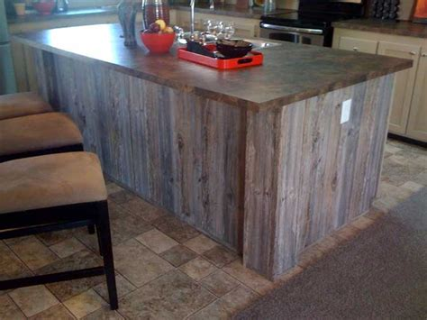 Kitchen Island With Columns Wood Paneling Ash American Pacific