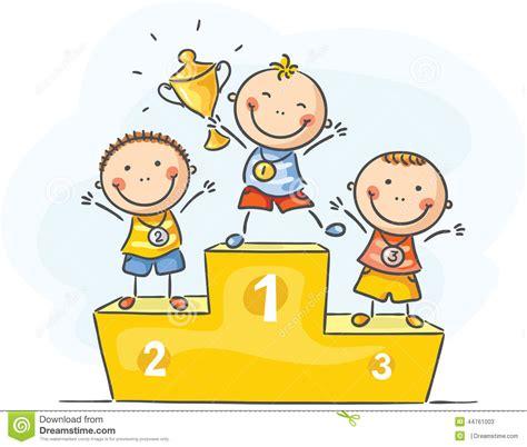 clipart bambino bambini e sport piccoli cioni illustrazione