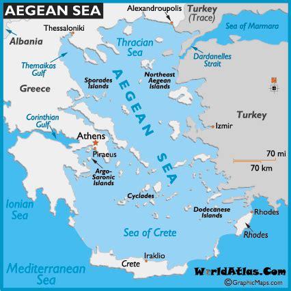aegean sea map map of aegean sea world seas aegean map location world atlas