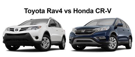 Toyota Honda by 2015 Crv Vs 2015 Toyota Rav4 Autos Post