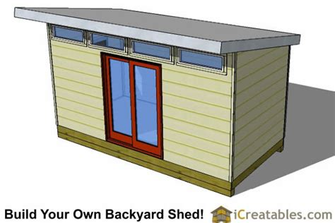 8x16 Shed Plans by 8x16 Modern Shed Plans Studio Shed Office Shed Plans