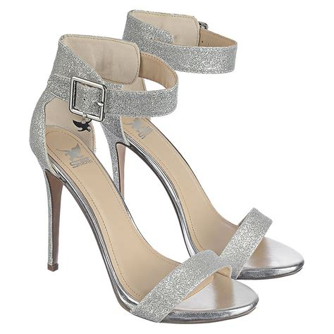 High Heels Gliter Silver shiekh canter h s silver high heel glitter dress shoe shiekh shoes