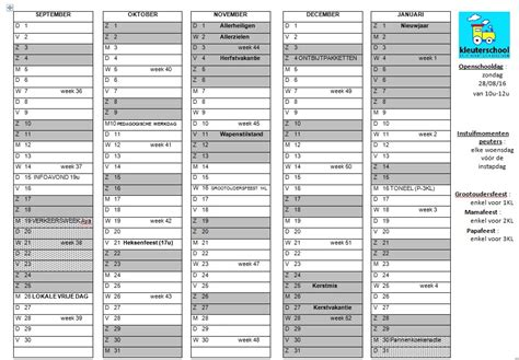 Kalender 2018 Schoolvakanties Belgie Schoolvakanties 2017 2018