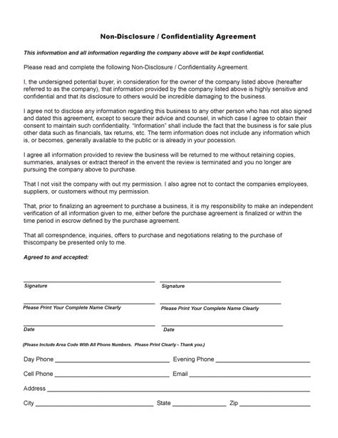 12 Best Images Of Simple Non Disclosure Agreement Pdf Non Disclosure Agreement Template Pdf Nda Agreement Template Pdf