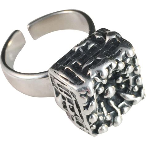 bold vintage sterling silver ring else och paul of