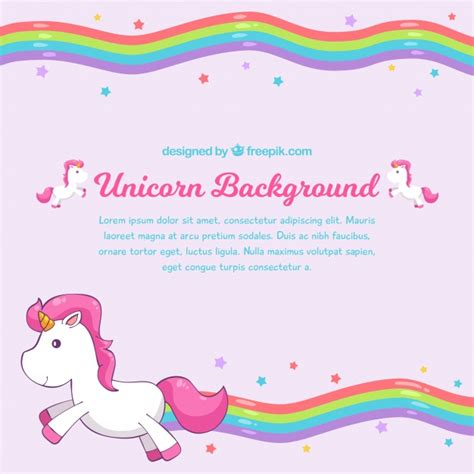 Rainbow Pink rainbow pink background with unicorn vector free