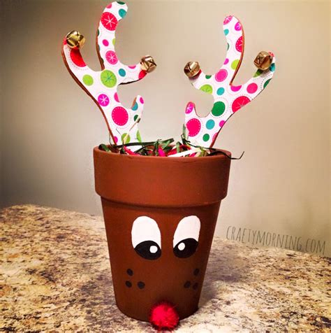 terra cotta pot reindeer gift idea crafty morning