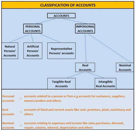 pictorial diagram of classification of accounts college