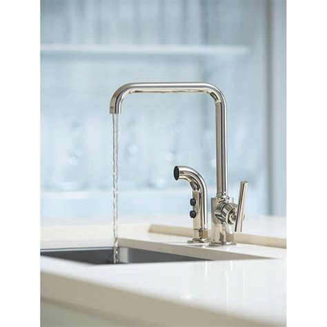 kohler purist kitchen faucet kohler k 7505 cp purist polished chrome pullout spray kitchen faucets efaucets