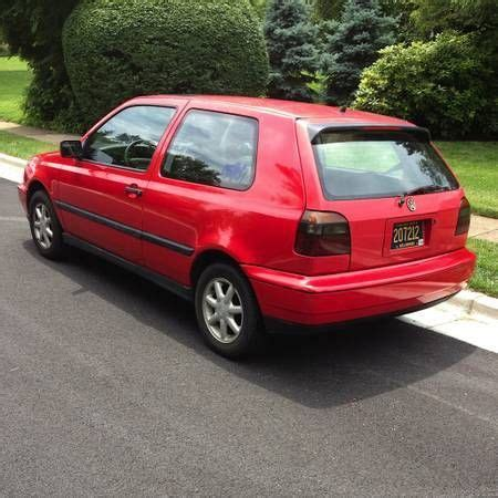 volkswagen hatchback 1995 find used 1995 volkswagen golf sport hatchback 2 door 2 0l