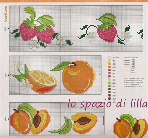 Schemi Punto Croce Per Cucina - lo spazio di lilla il punto croce in cucina bordure dal