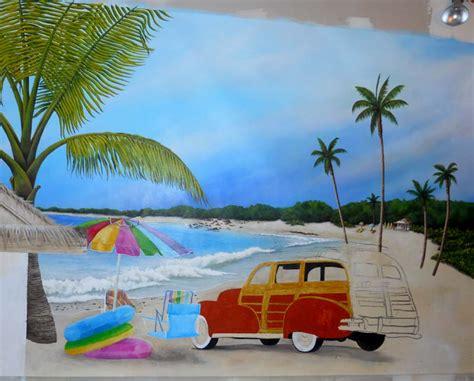 Beach Themed Bedrooms beach scene murals hot girls wallpaper
