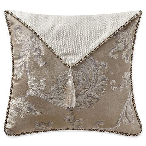 Square Segiempat Tassel Tasel waterford 174 chantelle tassel flap square throw pillow in taupe bed bath beyond