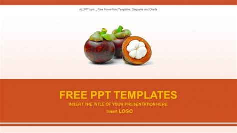free food powerpoint template mangosteen fruits food powerpoint templates