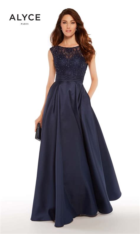 alyce paris    formal gown  pockets