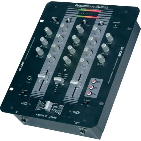 Mixer Audio Black Spider q d6 mixer black by american audio
