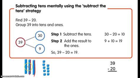 mental math strategies grade 4 worksheets counting back