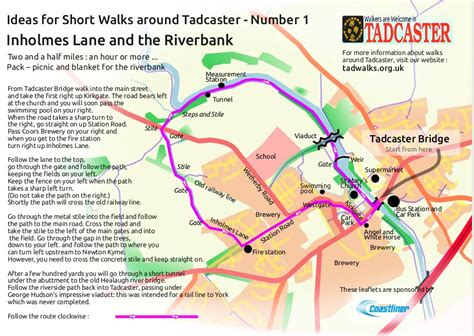 printable route planner uk waw in tadcaster rudgate and newton kyme a walking route