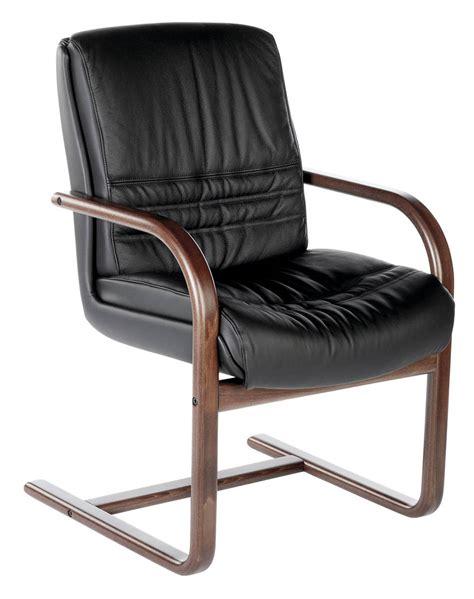 fauteuil visiteur cuir et bois lyon siege en bois et