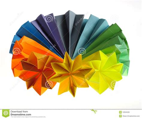 colorful origami colorful origami units royalty free stock image image