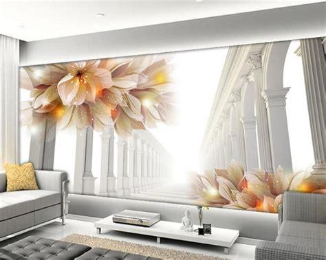 beibehang  wallpaper living room bedroom murals  beautiful flowers sofa tv background mural
