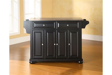 black kitchen island with stainless steel top alexandria stainless steel top kitchen island in black