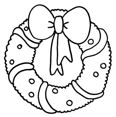 Christmas Wreath Free Colouring Pages Wreaths Coloring Pages