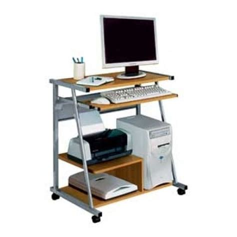 Computer Desk Argos Metal And Beech Effect Computer Desk Trolley With Shelf