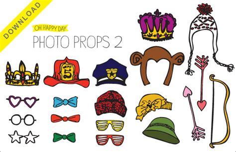 free printable photo booth props download free printable booth props templates