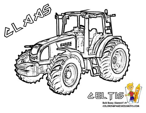 Coloring Page Tractor by Ford Tractors Coloring Pages