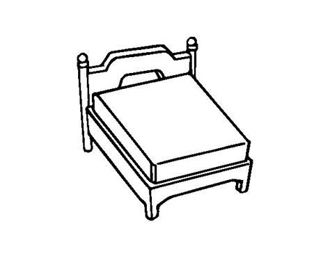 bed coloring page queen bed without pillow coloring page coloringcrew com