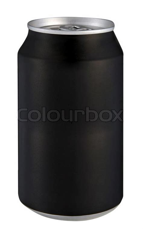 black can isolated on a white background stock photo