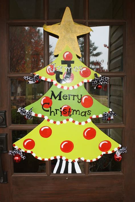 painted hand christmas trees 20 best images about wooden door hangers trees on trees trees